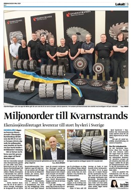 Kvarnstrands deliver order for miljons SEK